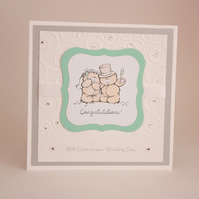 Handmade Forever Friends wedding card