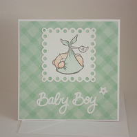 New baby boy card - now reduced