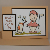 Male golf birthday card - now reduced