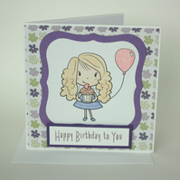 Girl's birthday card