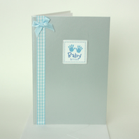 Blue new baby card - now reduced