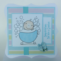 New grandson baby card