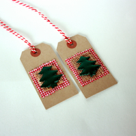 Handmade Rustic Christmas tree gift tags