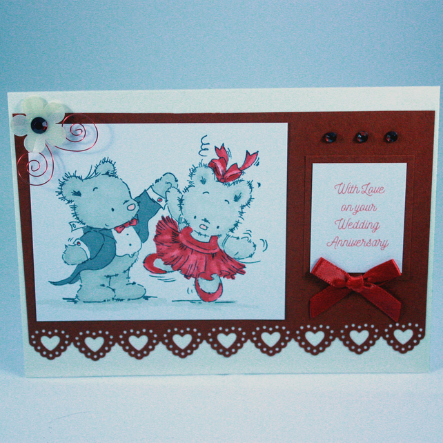 Dancing bears anniversary card