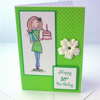 Handmade 30th Birthday card