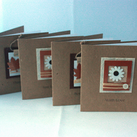 Pack of 4 multi purpose greetings cards