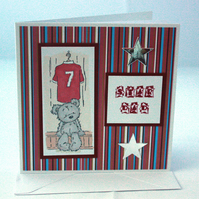 Star Dad - football teddy Father's Day card