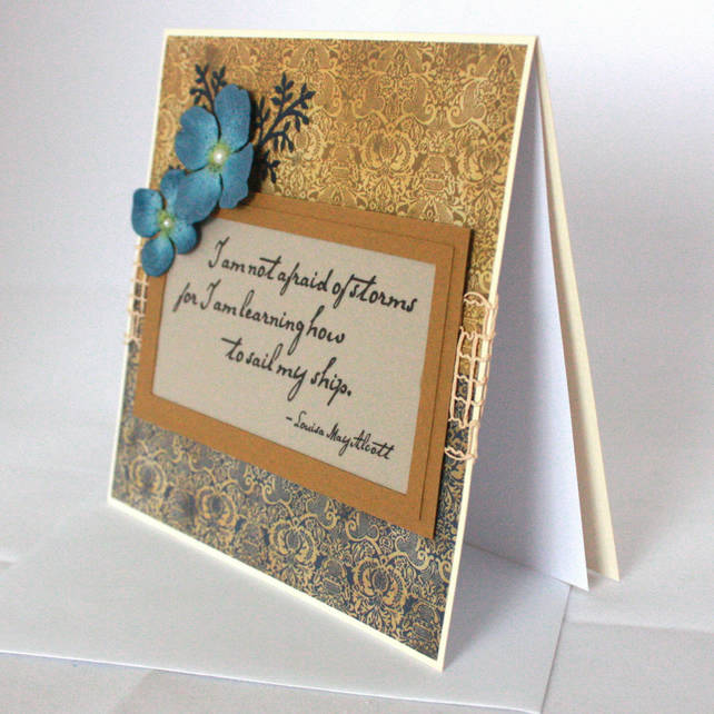 Handmade, any occasion card  with quotation