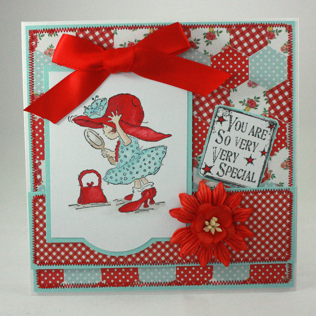 Handmade, any occasion card - You are so very very special