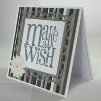 Handmade birthday card - Make a wish