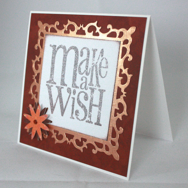Handmade, any occasion card - Make a Wish