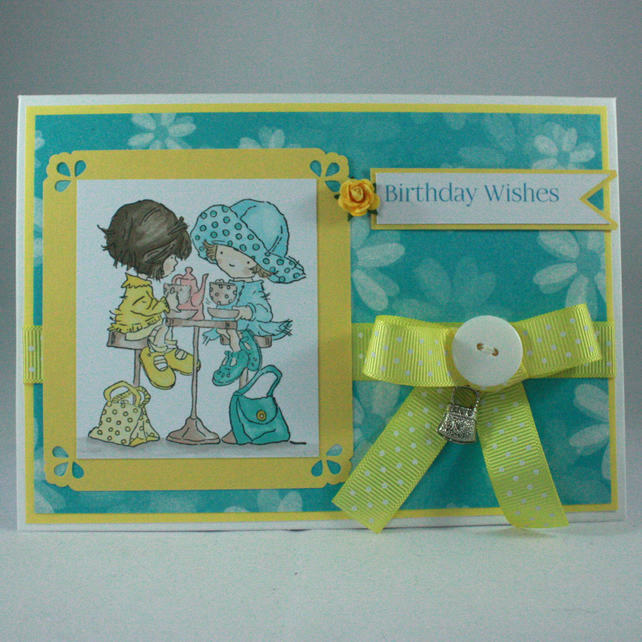 Handmade birthday card - ladies who lunch
