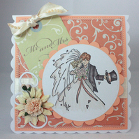 Handmade wedding card - Mr & Mrs
