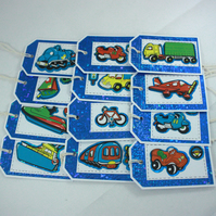 Pack of 12 gift tags or party bag tags
