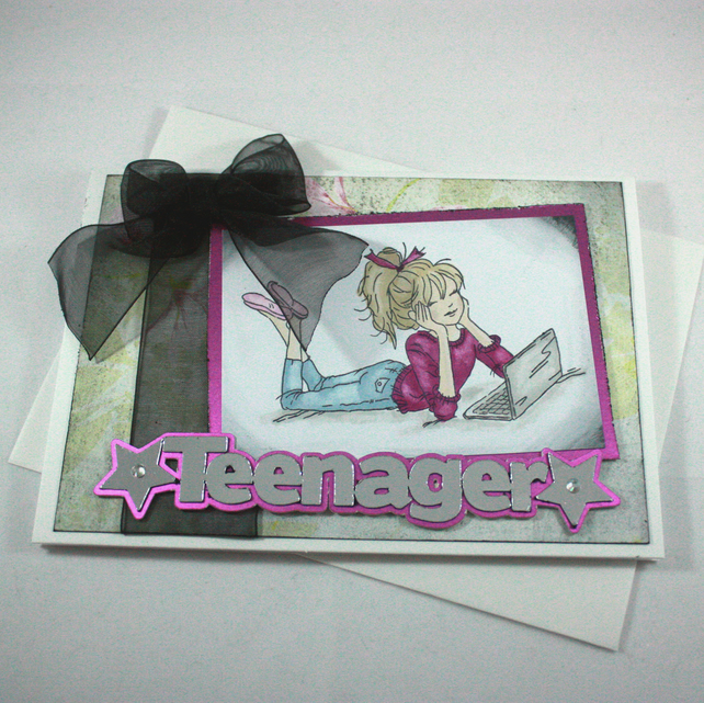 Handmade Birthday Card For A Teenage Girl Craftjuice Handmade