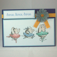 Handmade, any occasion card - dance, dance, dance