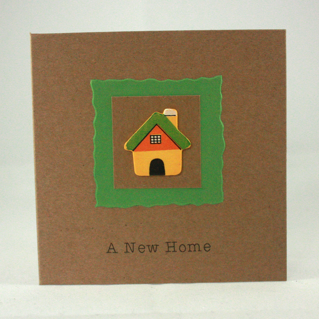 Handmade new home card