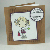 Square kraft thank you teacher card - ready to personalise