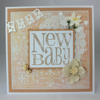 Handmade new baby card