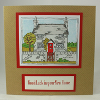 Handmade new home card - country cottage