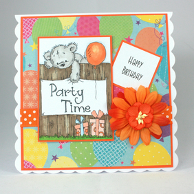 Handmade birthday card - party time