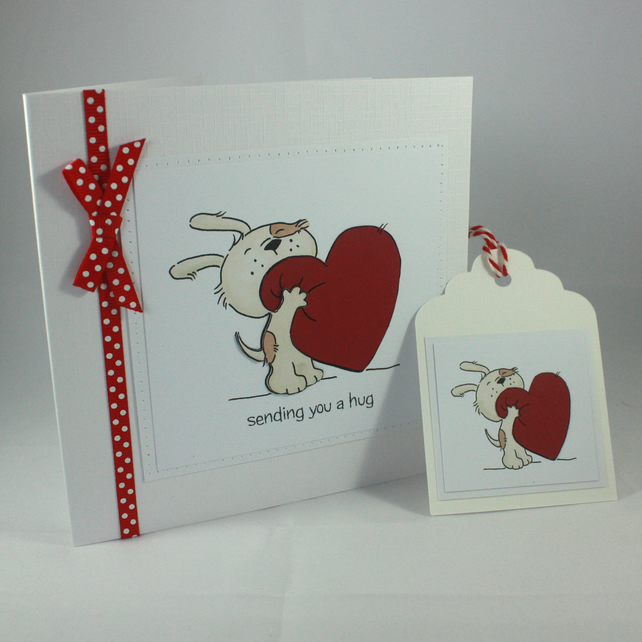 Handmade Valentine S Day Card And Gift Tag Cut Folksy