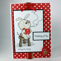 Handmade card - Thinking of You - cute dog