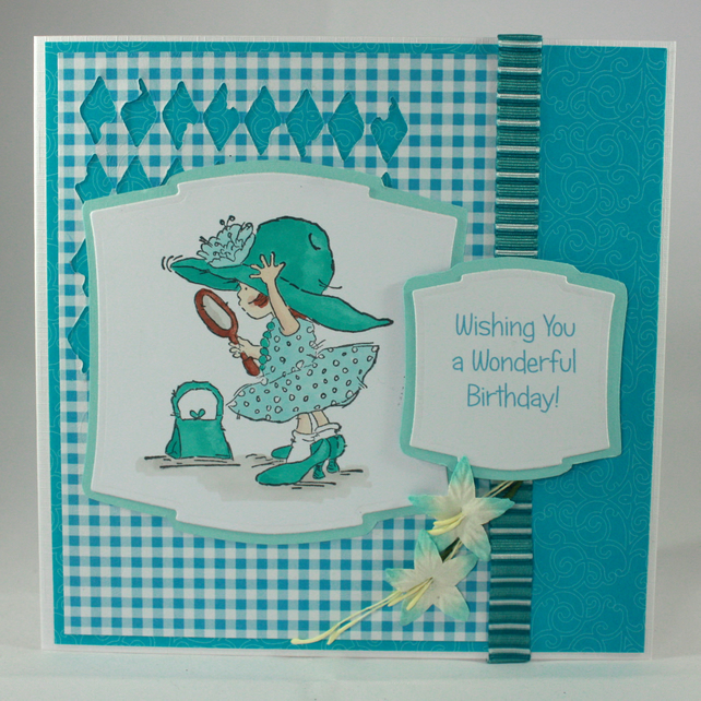 Handmade birthday card - Wishing You a Wonderful Birthday
