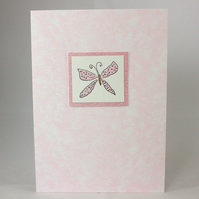 Handmade butterfly greetings card