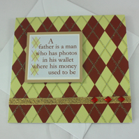 Handmade Father's Day card - quotation