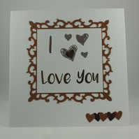 I love you Valentine's Day card
