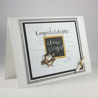 Handmade congratulations card - clever clogs