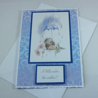 Get well soon card - under the weather