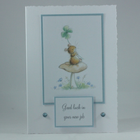 Handmade new job good luck card