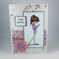 Handmade teenage girl birthday card