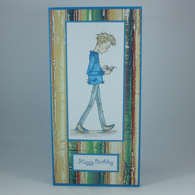 Handmade Teenage Boy Birthday Card
