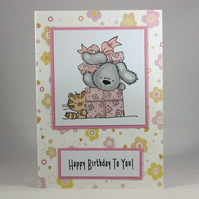Cat and Dog Birthday card - Happy Birthday to You!