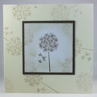 Handmade any occasion card - dandelion clock