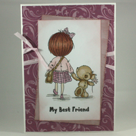 Handmade any occasion card - best friends