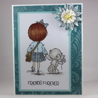 Handmade any occasion card - friends forever