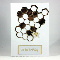 Handmade birthday card - ha-bee birthday
