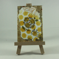 Abstract, mixed media ACEO - All My Love