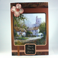 New home card - thatched cottage