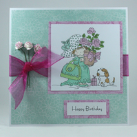Handmade birthday card - birthday roses