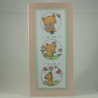 Any occasion greetings card - cute kitten trio