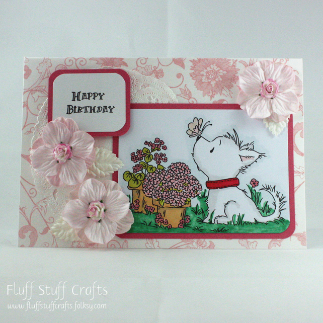 Surprising Handmade Birthday Card West Highland Terrier Folksy Personalised Birthday Cards Paralily Jamesorg
