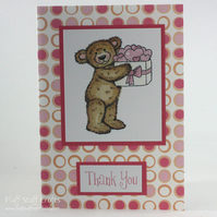 Cute teddy Thank you card
