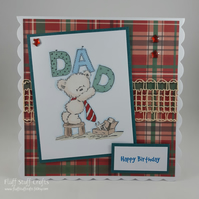 Handmade DIY Dad birthday card