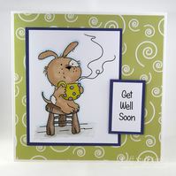 Handmade Get Well Soon card - hug in a mug