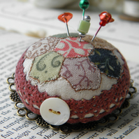 Patchwork Pincushion Brooch